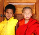 monk in training and a friend