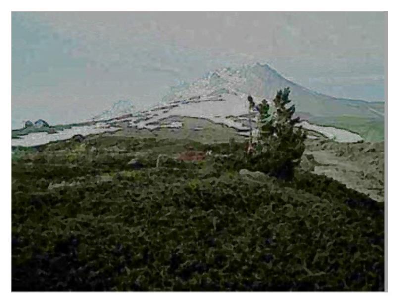 snowfield watercolor