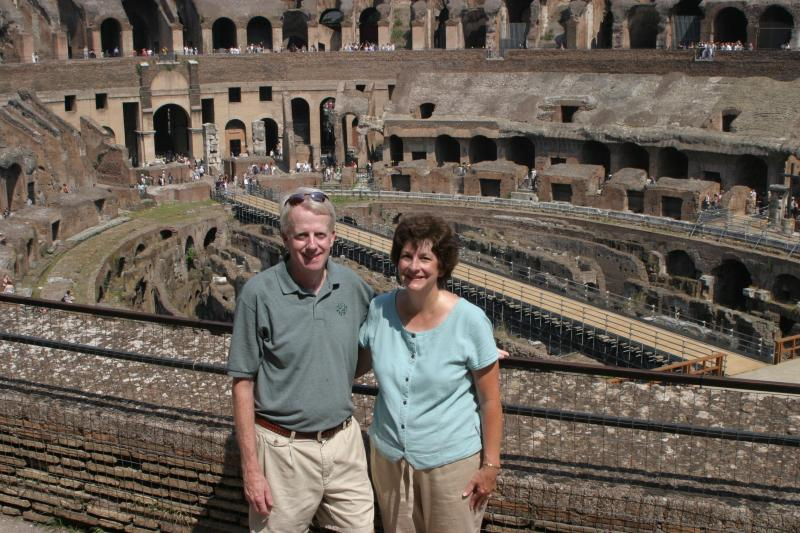 Mike and Jane in the Colosseum