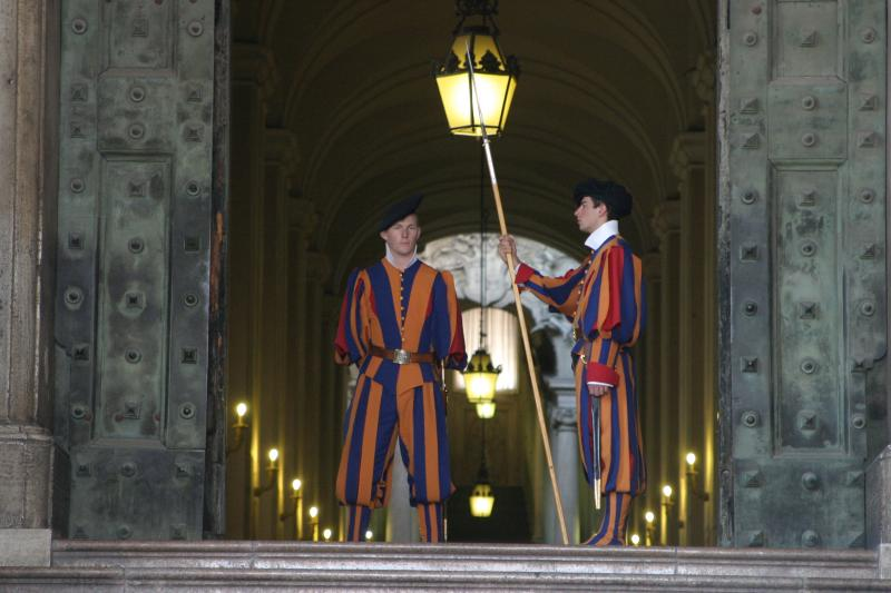 Swiss guards outside St. Peters