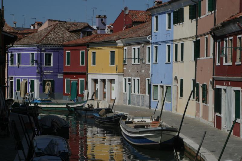 Colorful buildings on the island of Burano