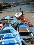 Vernazza boats and beach