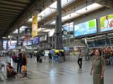 Munich Train Station - huge and spiffy!