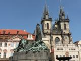 Jan Hus Memorial and Tyn Church