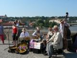 Charles Bridge musicians - some great old-timey jazz