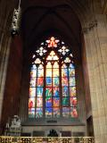 1st stained glass window to the right