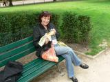 Picnicking in the shadow of la tour Eiffel
