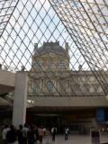 The entrance of the Louvre