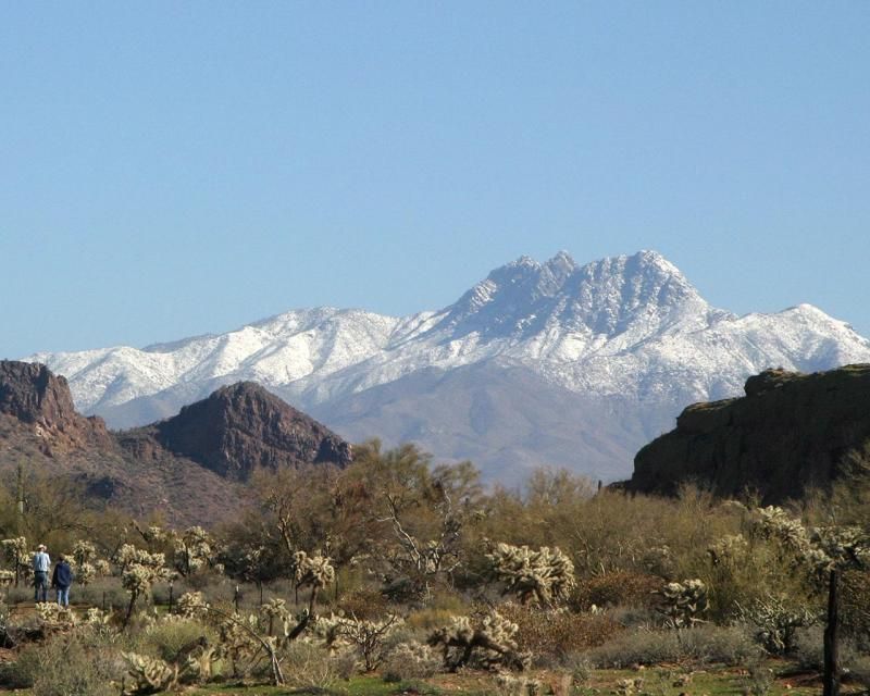 Four Peaks from the Superstitions