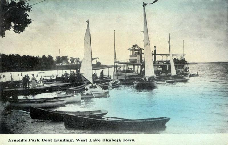 Arnolds Park Boat Landing 1910