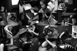 in the music studio