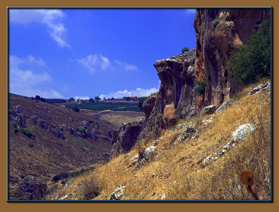 Nachal (riverbed) Aviv prehistorical caves