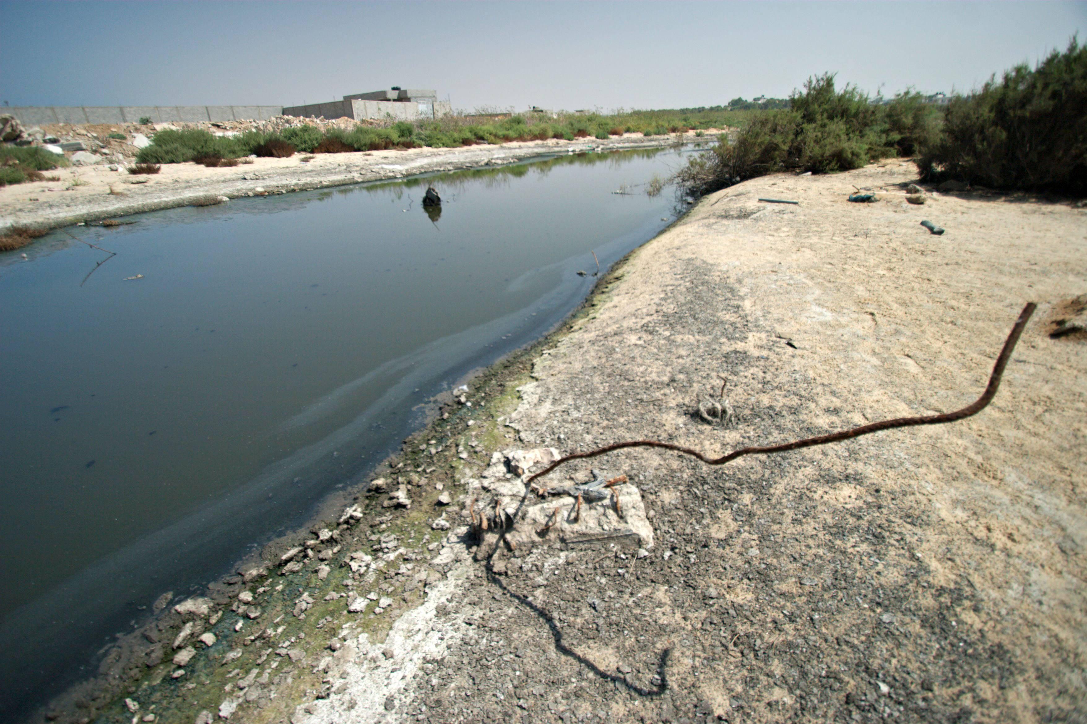 Sewage heading for the Mediterranean Sea