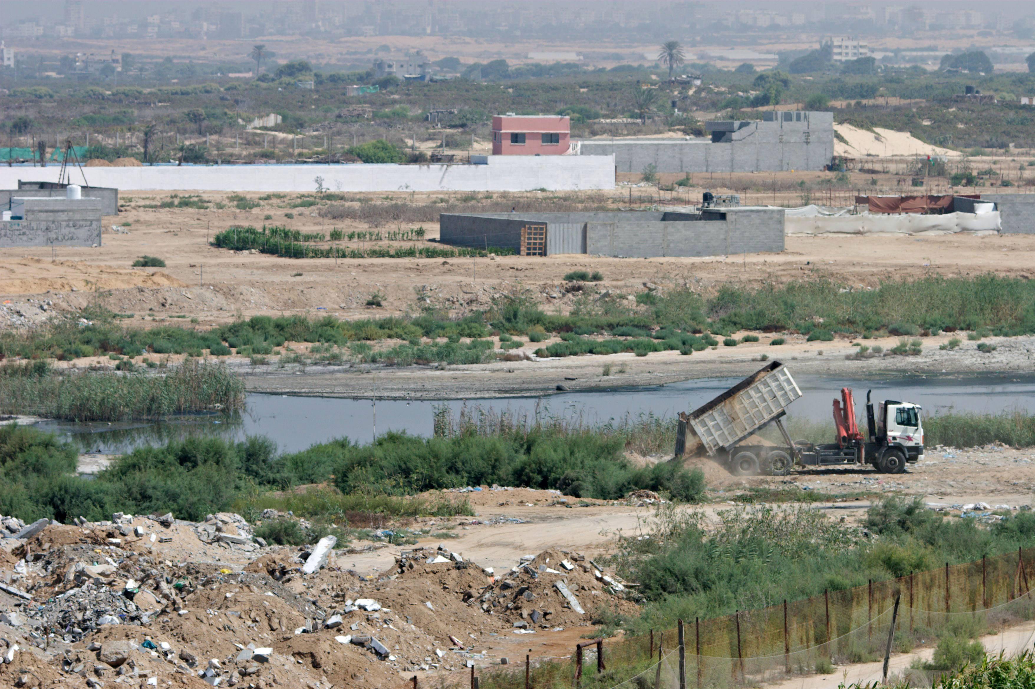 Wadi Gaza land conversion