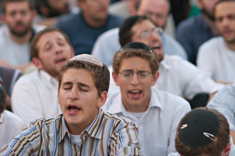 Group singing and prayer