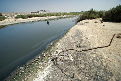 Sewage heading for the Mediterranean Sea
