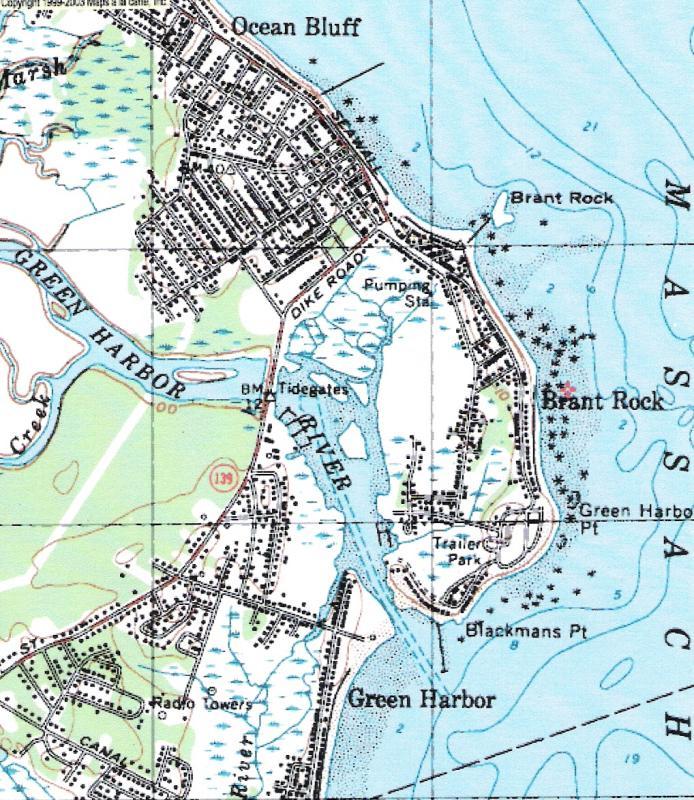 Map of South Coastal Marshfield