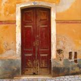Redbrown door