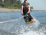 Boy Knee Boarding 1