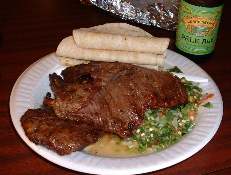 Carne asada, courtesy of the Fire Department. (??)