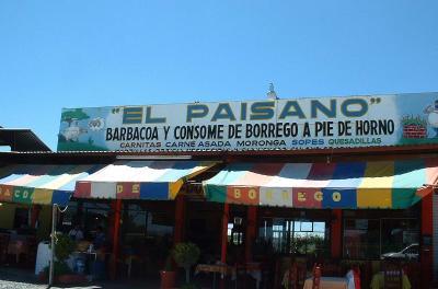 Restaurante El Paisano, San Juan de La Paz, Guanajuato.