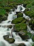 Waterfall with Rocks and Moss