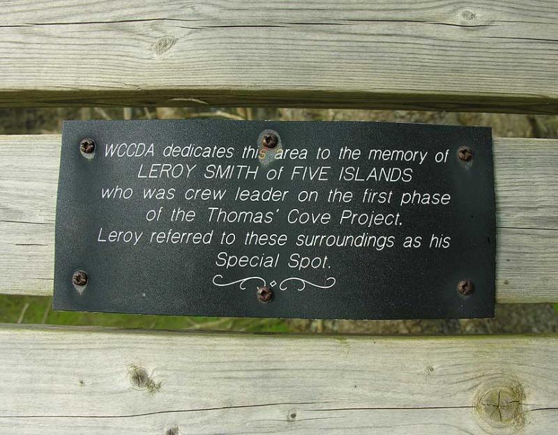 Thomas Cove plaque