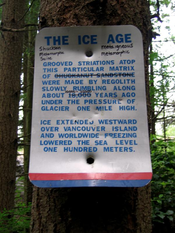 Ice Age sign
