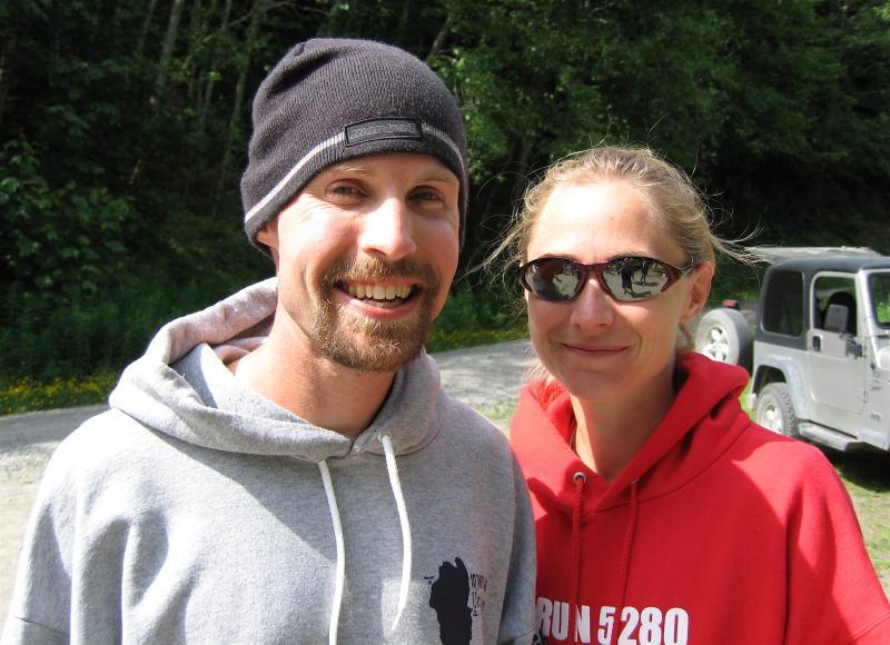 Sean Meissner & Kristin Jossi before a long drive home