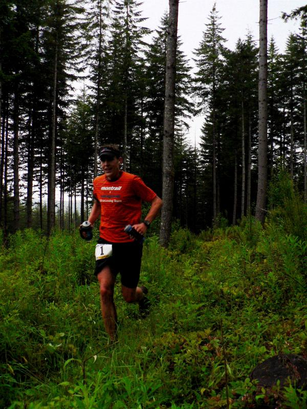 Brain Morrison leads the race at Iron Creek <br>Mile 14.6</br>