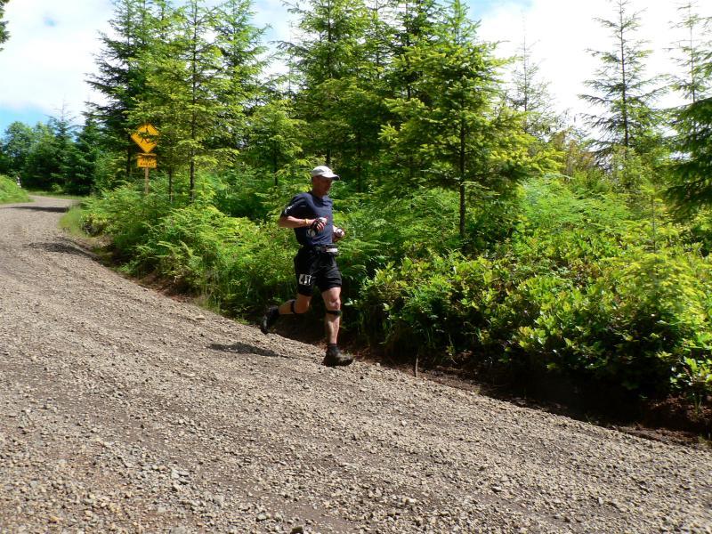 Craig Ralstin rounds the bend