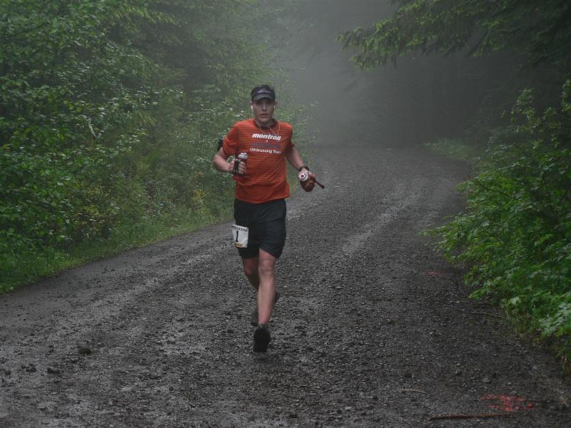 Brian Morrison running down Capitol Peak
