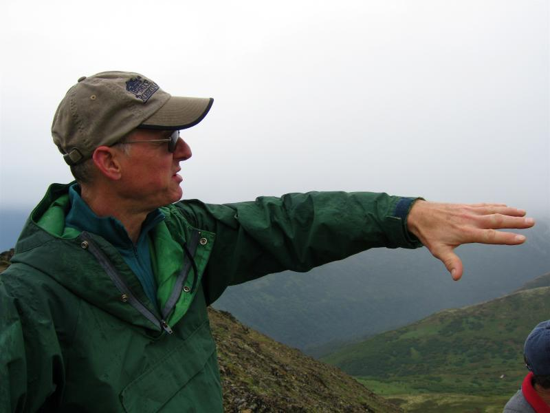Bruce points out Mt. Matanuska