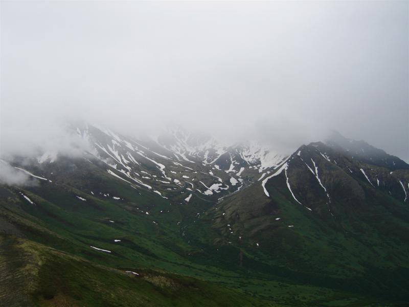 Cloud covered Mt. Matanuska