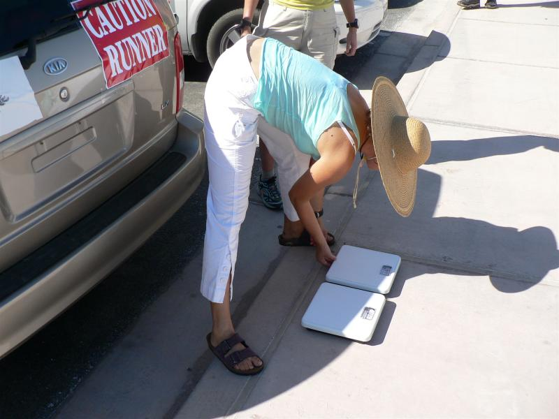 Calibrating the scales at Badwater