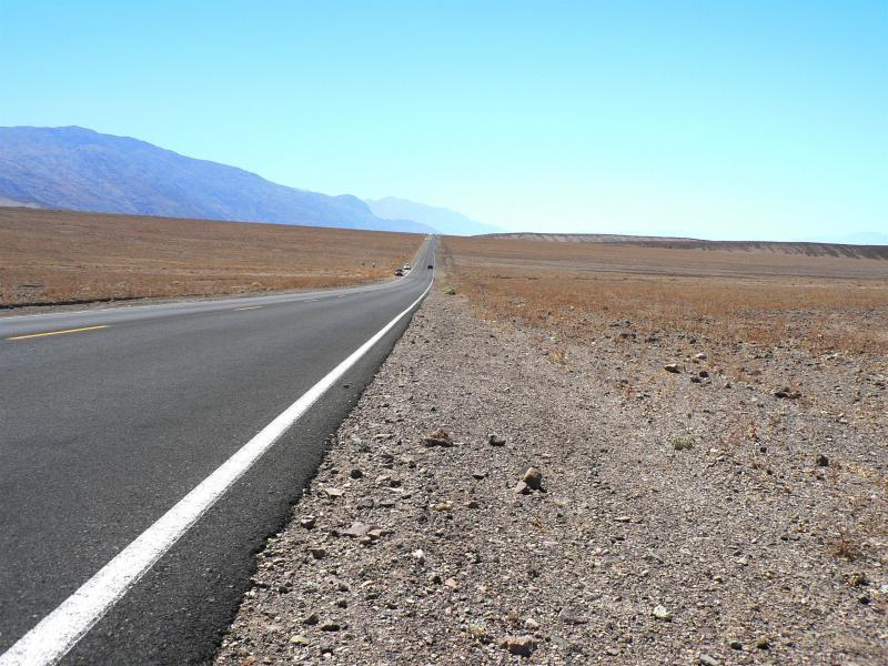 Long hot road