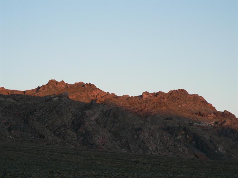 Sun hits the hills