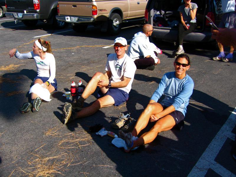 Kendra, Craig & Kami hanging out at the finish