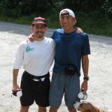 Roy & Glenn at the finish