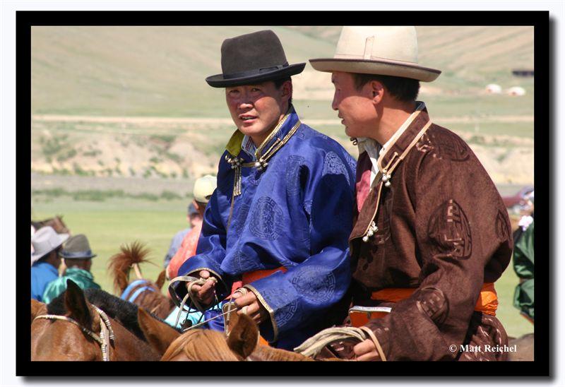 Watching the Events of Naadam, Kharkhorin