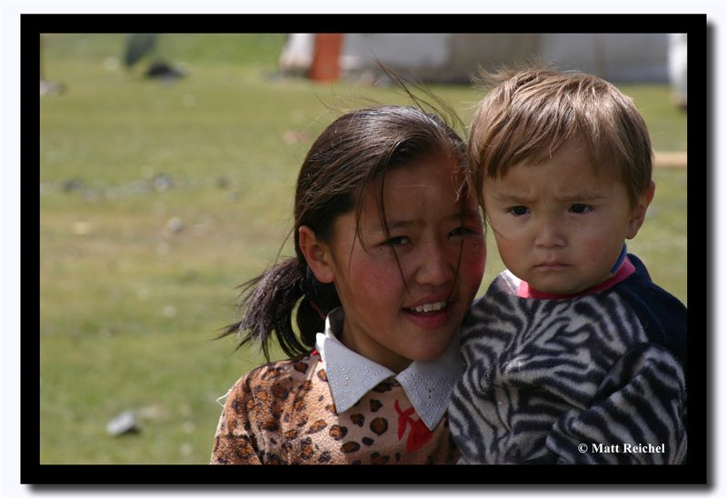 Sister with Little Brother, Altai Tavanbogd National Park