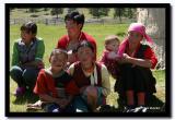 Kazakh Family in beautiful colors, Bayan-Olgii Aimag