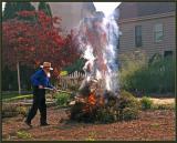 Cleaning his garden-1997.JPG