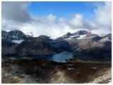 Bow Lake from Cirque Peak