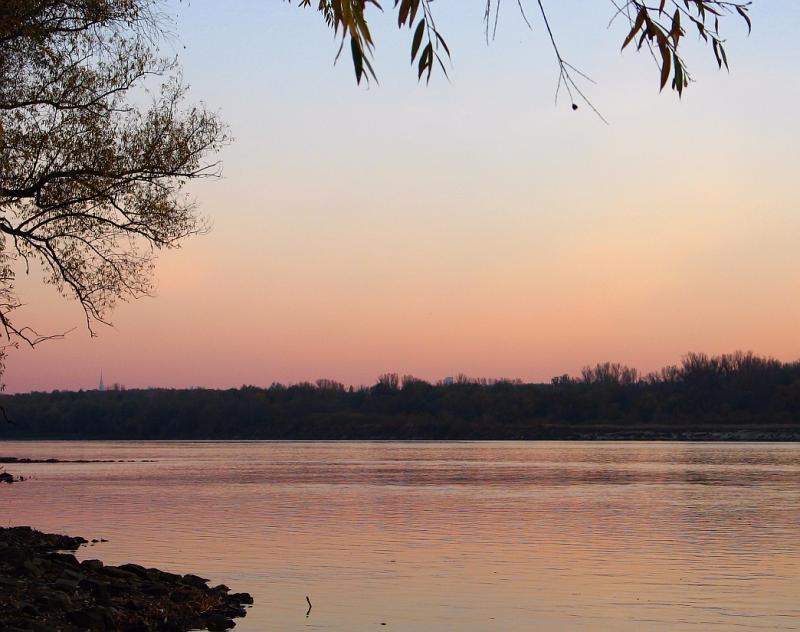 Vistula River And Warsaw