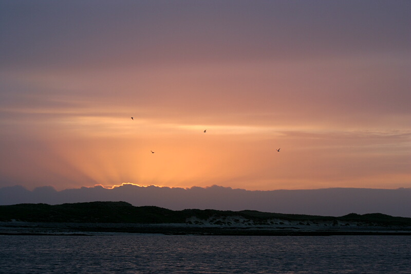Sunset at the Monach Isles