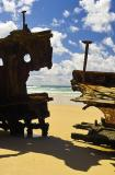 Wreck Framed Sea View - Fraser Island