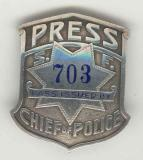 san francisco chief of police press badge