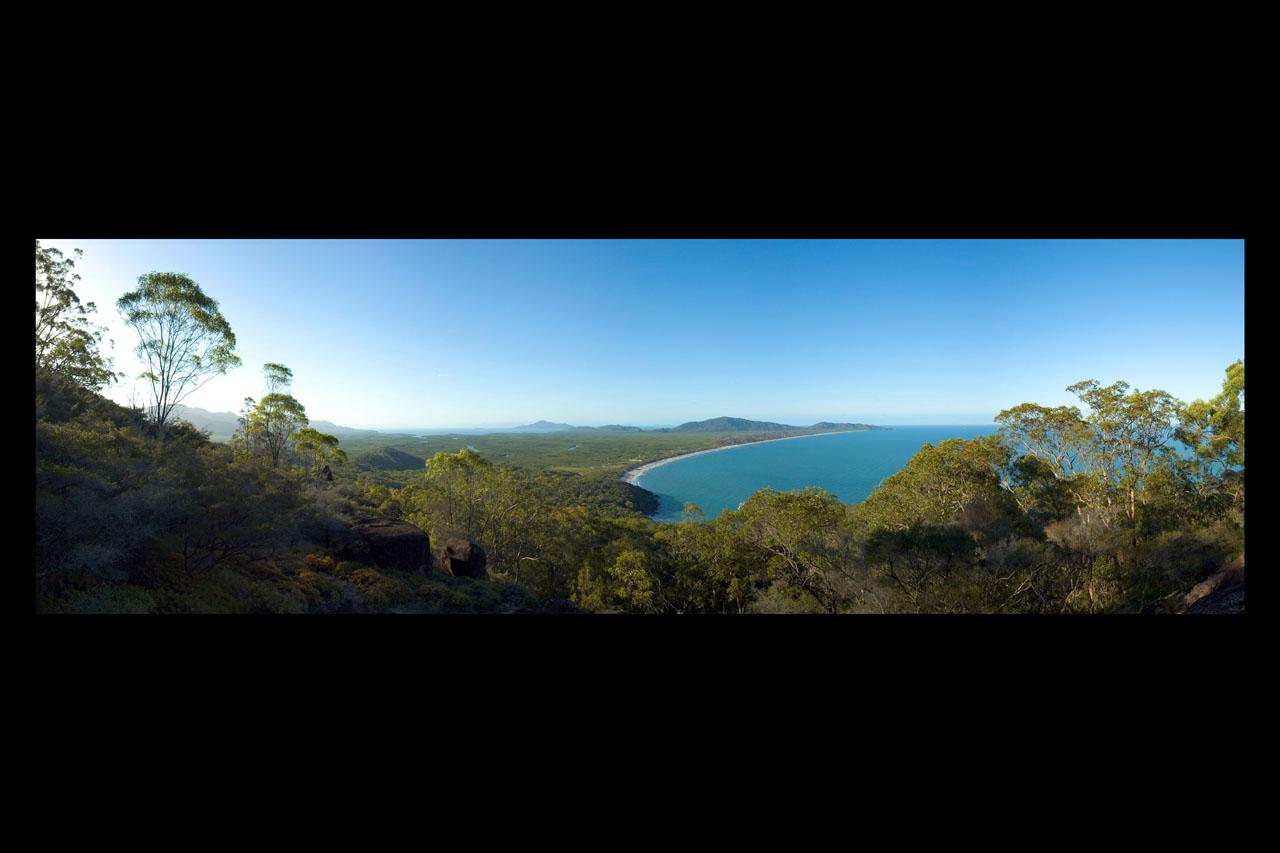 Ramsay Bay from Nina Peak Hinchinbrook Island panorama 12 by 18