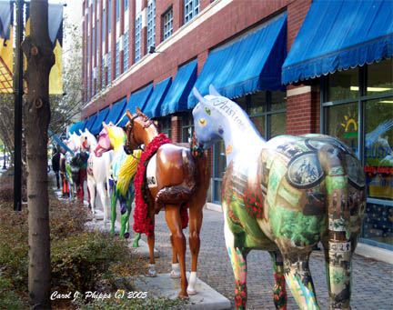 Gallapalooza Horses lining up for auction.